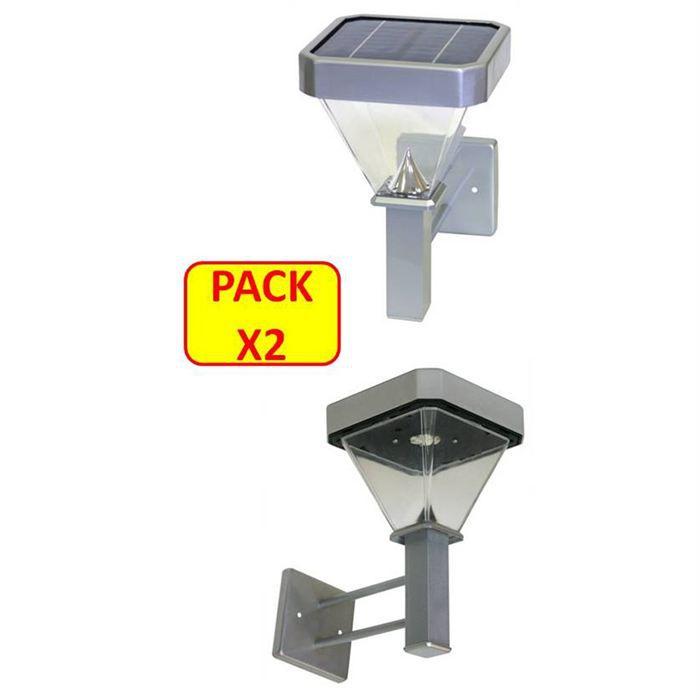 Xanlite lot 2 appliques solaires 100 lumens achat for Lampe solaire exterieur xanlite