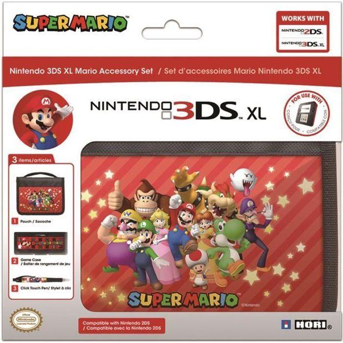 Pack d 39 accessoires mario 2ds 3ds new 3ds xl achat for Housse 2ds mario