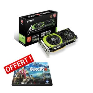 CARTE GRAPHIQUE INTERNE MSI GeForce GTX 960 Gaming 2Go DDR5 Edition 100M