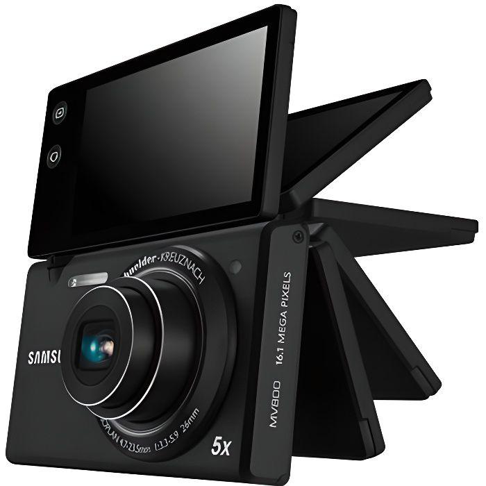 Samsung mv800 noir appareil photo num rique achat for Appareil photo ecran 180