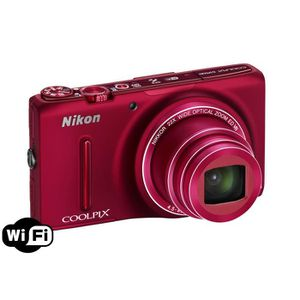NIKON S9500 Compact Rouge - CMOS 18MP Zoom 22x