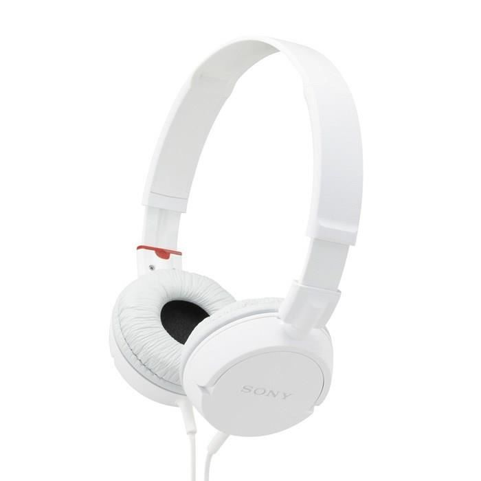 sony mdr zx100 casque audio pliable blanc casque. Black Bedroom Furniture Sets. Home Design Ideas