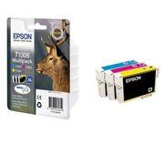 CARTOUCHE IMPRIMANTE Epson T1306 Cerf C/M/Y XL Pack Couleurs