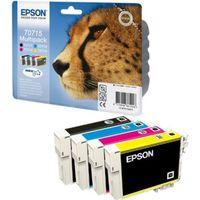 CARTOUCHE IMPRIMANTE Epson cartouches T0715 B/C/M/Y Pack couleurs x1