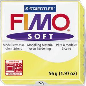 STAEDTLER Pâte ? modeler ? cuire Fimo Soft bloc 56 g limon