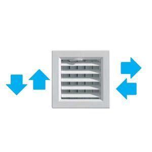 grille de ventilation ailettes orientables ex achat vente vmc accessoires vmc grille. Black Bedroom Furniture Sets. Home Design Ideas