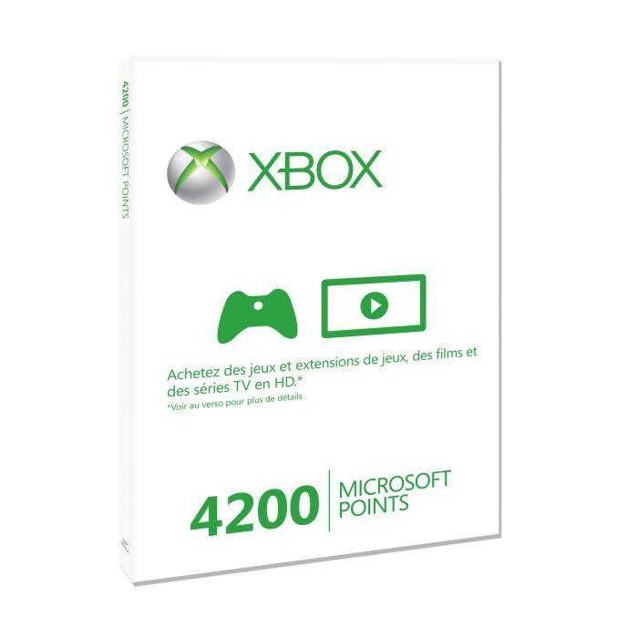 PACK ACCESSOIRE 4200 Microsoft Points Xbox LIVE / Accessoire XBox3