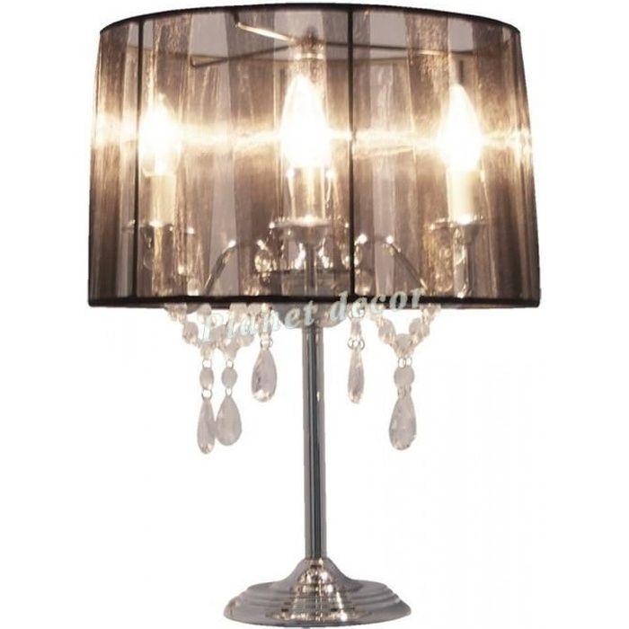 Lampe de chevet noire chandelier baroque noir achat vente lampe de cheve - Lampe de chevet baroque ...