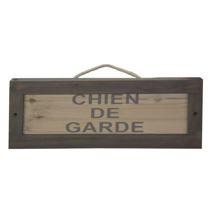plaque bois chien de garde achat vente plaque signal tique plaque bois chien de garde. Black Bedroom Furniture Sets. Home Design Ideas
