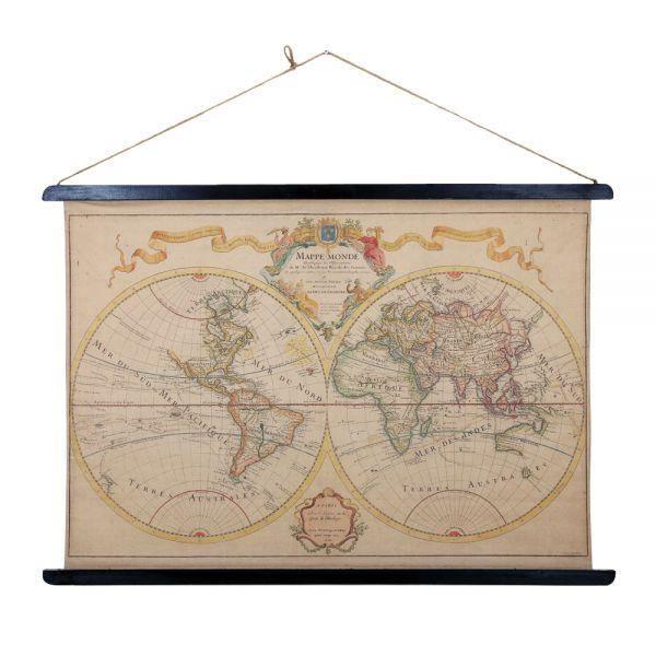 reproduction carte du monde en 1700 sous louis achat vente objet d coratif tissu bois. Black Bedroom Furniture Sets. Home Design Ideas