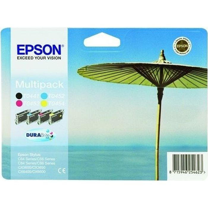 epson t0445 parasol cartouches d 39 encre multipack couleurs. Black Bedroom Furniture Sets. Home Design Ideas