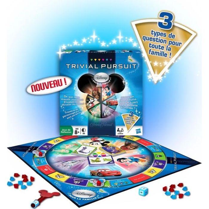 JEU SOCIÉTÉ - PLATEAU TRIVIAL PURSUIT Disney Pour La Famille