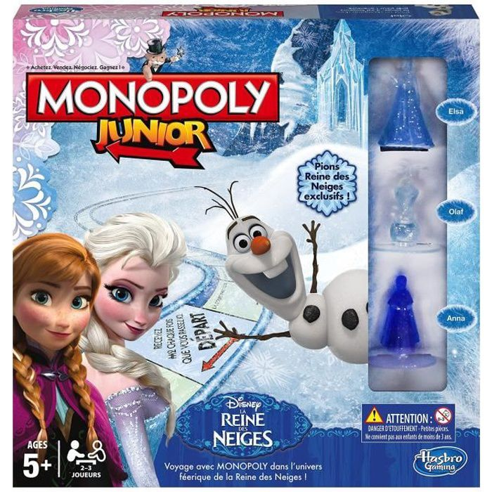 La reine des neiges monopoly junior achat vente jeu - Jeux de fille reine des neiges ...