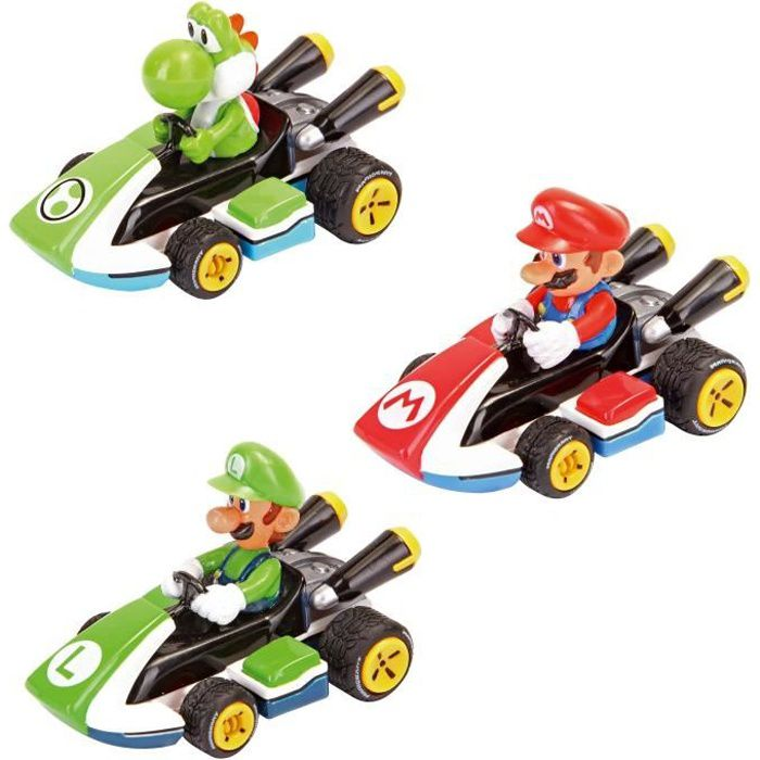 pack 3 voitures pull and speed mario kart 8 achat vente voiture camion cdiscount. Black Bedroom Furniture Sets. Home Design Ideas