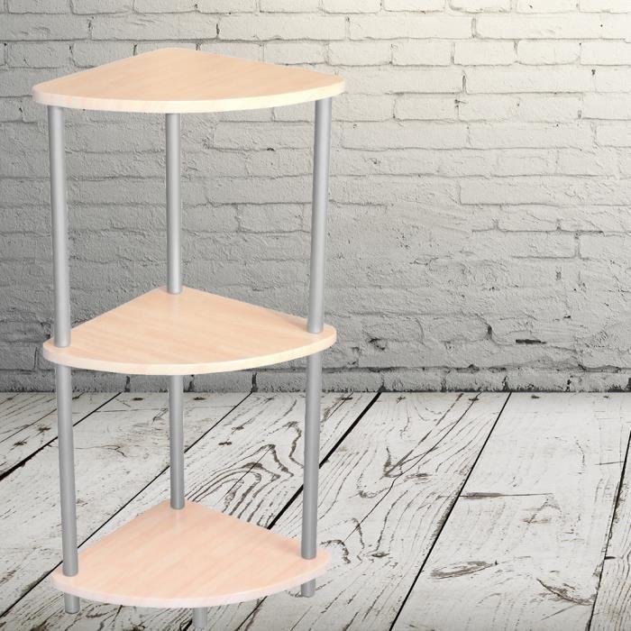 Etagere d 39 angle meuble rangement 3 niveaux desi achat - Meuble de rangement d angle ...