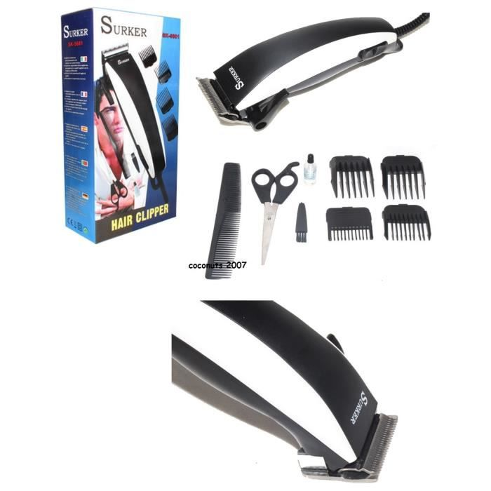 tondeuse cheveux electrique pro 8 accessoires neuf achat vente tondeuse cheveux cdiscount. Black Bedroom Furniture Sets. Home Design Ideas