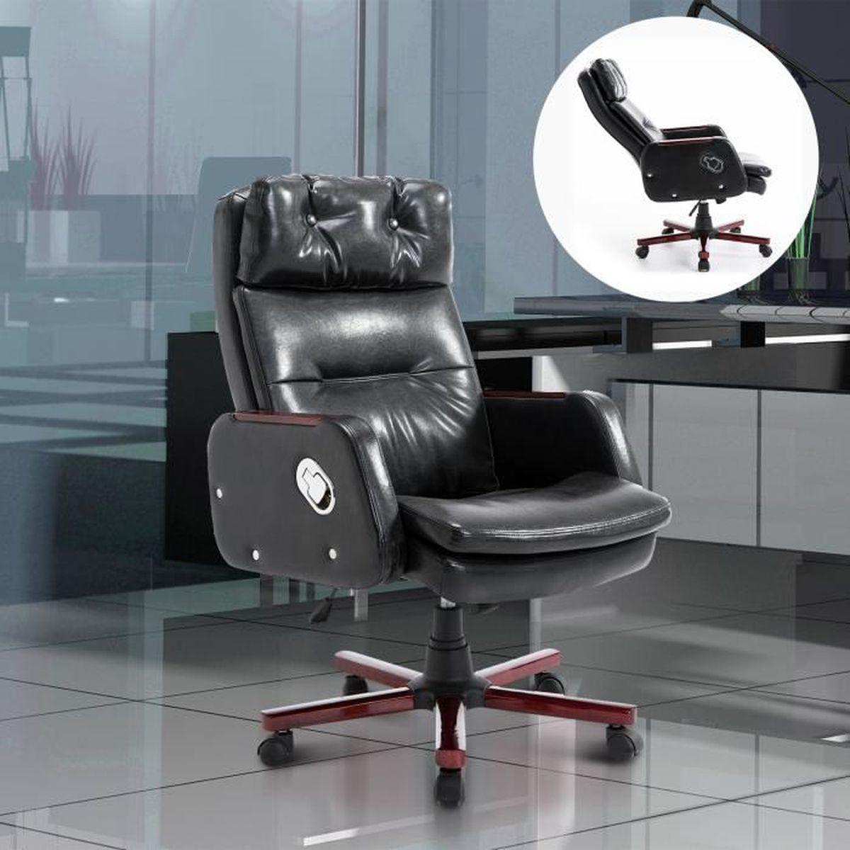 chaise de bureau fauteuil ergonomique pivotante inclinable. Black Bedroom Furniture Sets. Home Design Ideas