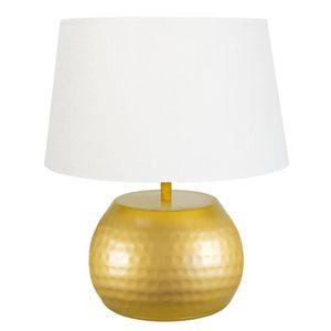 LAMPE A POSER BANGALORE   Lampe métal martelée hauteur 37 cm, or