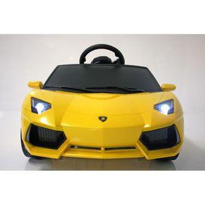 INJUSA Lamborghini Voiture électrique enfant avec télécommande parentale Aventador - 6 Volts