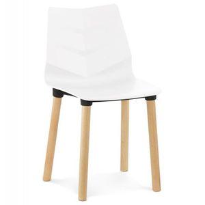 "CHAISE Paris Prix - Chaise Design ""Karo"" 83cm Blanc"