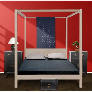 lit a baldaquin 140x190 achat vente lit a baldaquin 140x190 pas cher soldes d hiver d s. Black Bedroom Furniture Sets. Home Design Ideas