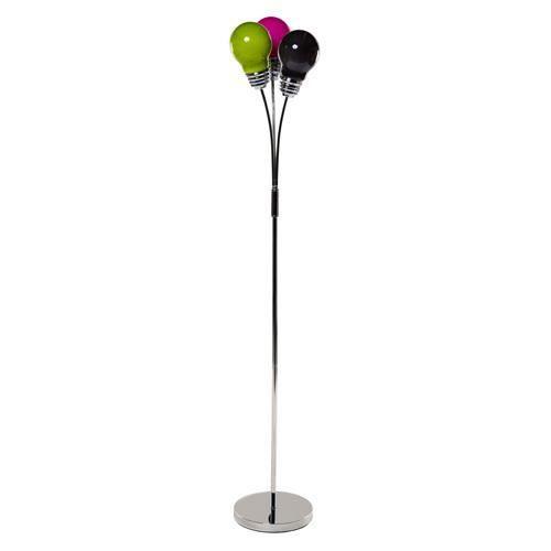 lampadaire 3 t tes en forme d 39 ampoules h 1 45 m achat vente lampadaire 3 t tes en forme. Black Bedroom Furniture Sets. Home Design Ideas
