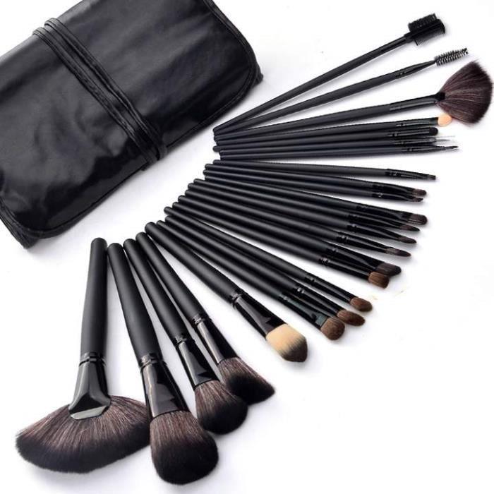outils 24 pcs pinceau de maquillage professionnel set kit de maquillage avec tui de toilette. Black Bedroom Furniture Sets. Home Design Ideas