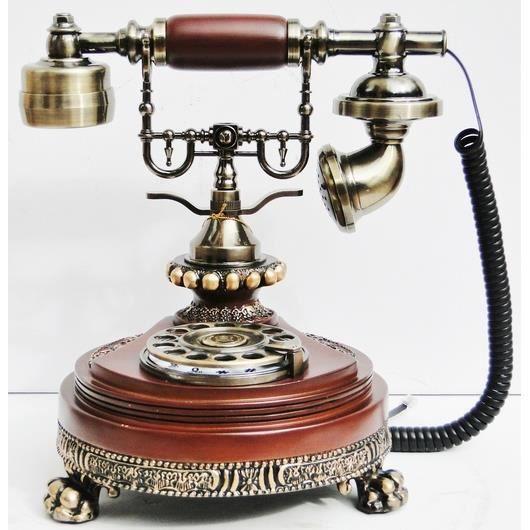 telephonie telephone fixe antique en bois baroque vintage sty f  auc