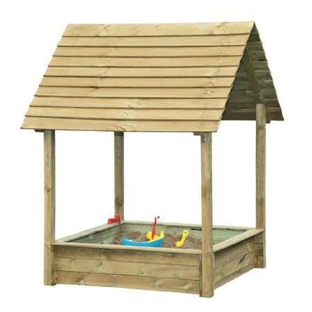 bac sable en bois fsc avec toit selma park achat. Black Bedroom Furniture Sets. Home Design Ideas