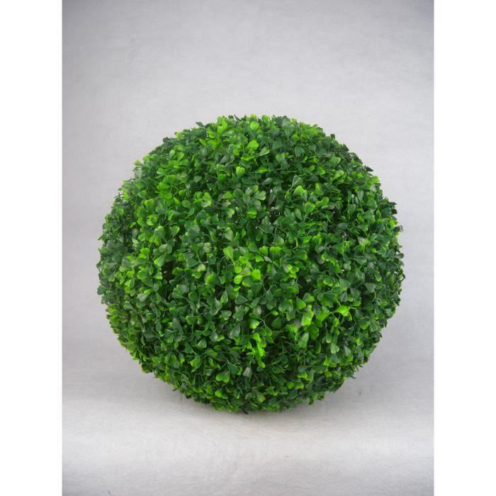 Boule de buis artificielle 55 cm achat vente fleur for Vente fleurs artificielles