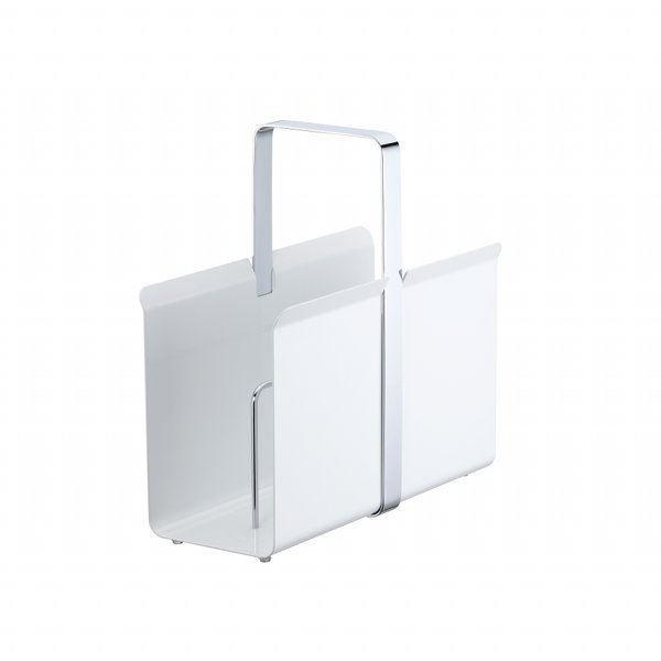 Porte revues design en acier marylin blanc achat - Porte journaux design ...