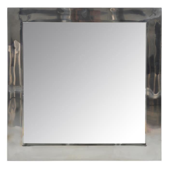 Miroir carr verre et argent achat vente miroir for Miroir et verre concept