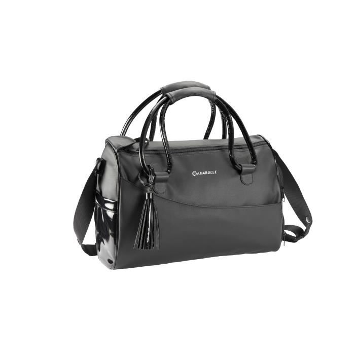 badabulle sac langer glossy el gant noir noir et gris achat vente sac langer. Black Bedroom Furniture Sets. Home Design Ideas