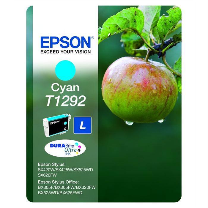 epson t1292 pomme cartouche d 39 encre cyan prix pas cher cdiscount. Black Bedroom Furniture Sets. Home Design Ideas