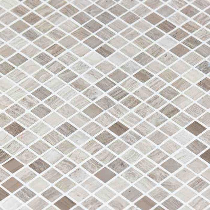 Mosa que marbre marbre gris clair achat vente carrelage parement cdis - Carrelage mosaique discount ...