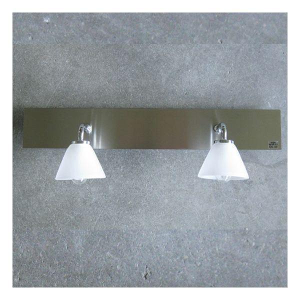 Double applique salle de bain angela achat vente double applique salle de ba verre m tal - Applique double sallede bain ...