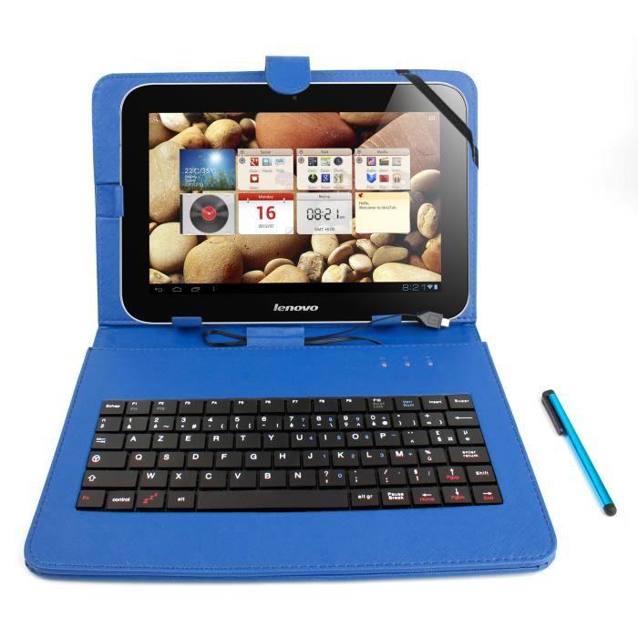 etui bleu clavier pour tablette lenovo thinkppad 2 prix pas cher cdiscount. Black Bedroom Furniture Sets. Home Design Ideas