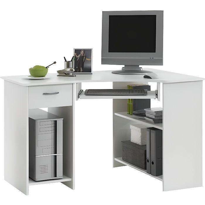 felix bureau d 39 angle 77 cm blanc achat vente bureau felix bureau d 39 angle 77 cm panneaux. Black Bedroom Furniture Sets. Home Design Ideas