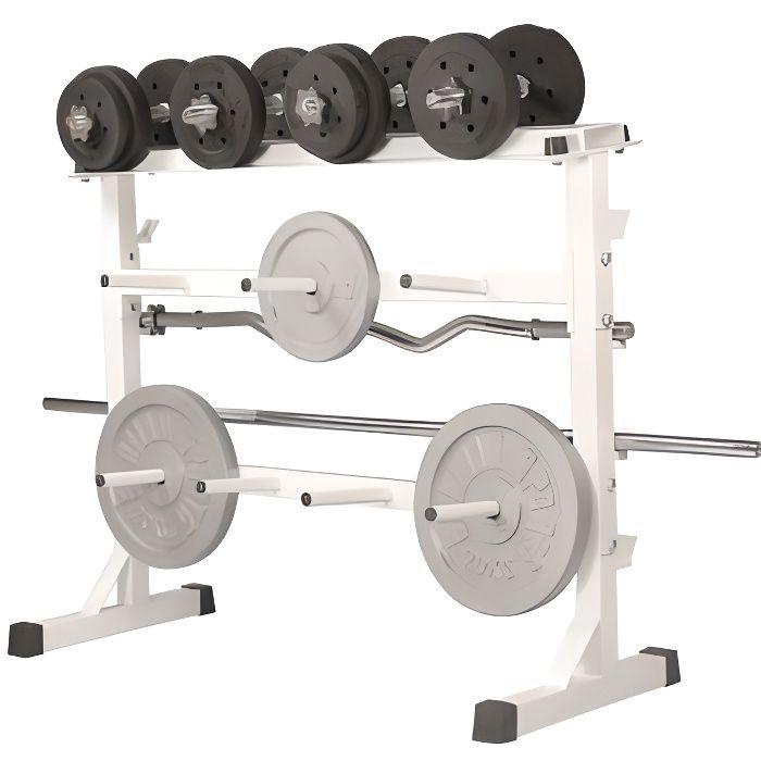 Gorilla sports rack de rangement pour poids et prix pas cher cdiscount - Vente poids musculation ...