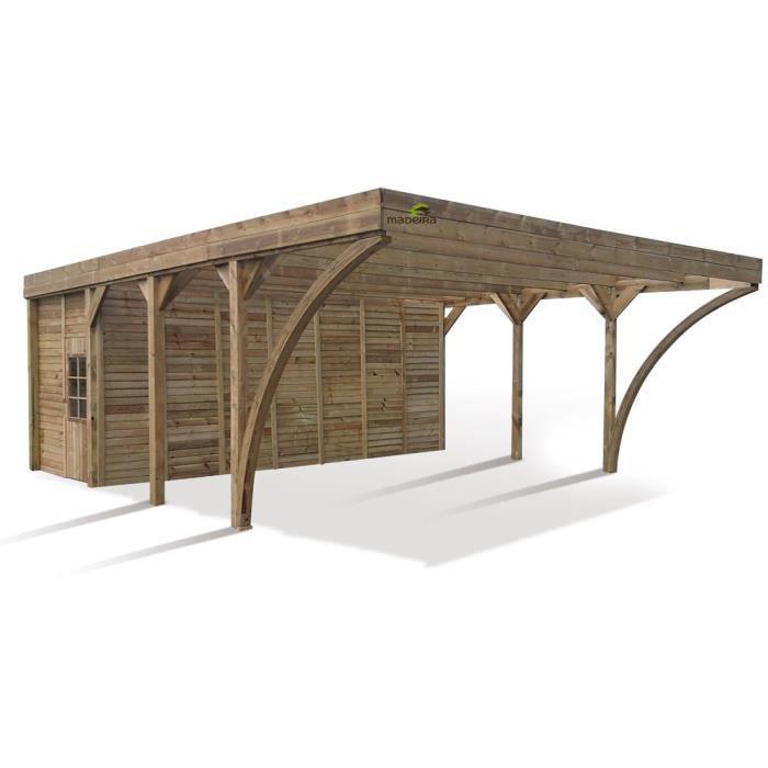 carport pour 2 voitures abri double aymar m 594 x 709 cm 19 mm poteau 11 5 x 11. Black Bedroom Furniture Sets. Home Design Ideas