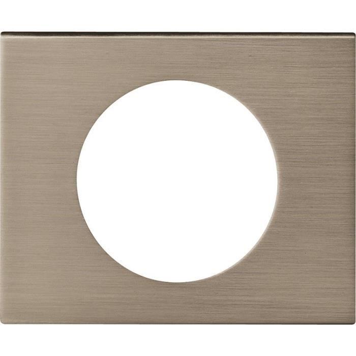 Legrand plaque c liane finition m tal pour 1 poste inox for Achat plaque inox