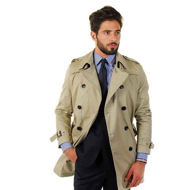 trench homme beige achat vente imperm able trench cdiscount