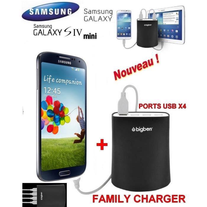 familly chargeur samsung galaxy s4 mini noir achat smartphone pas cher avis et meilleur. Black Bedroom Furniture Sets. Home Design Ideas