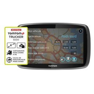 TOMTOM GPS Camion TRUCKER 6000 (6 pouces) Europe 48 Cartographie ? Vie