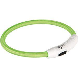 TRIXIE Flash Anneau lumineux USB M?L: 45 cm/? 7 mm vert pour chien