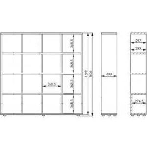 meuble 16 case achat vente meuble 16 case pas cher cdiscount. Black Bedroom Furniture Sets. Home Design Ideas
