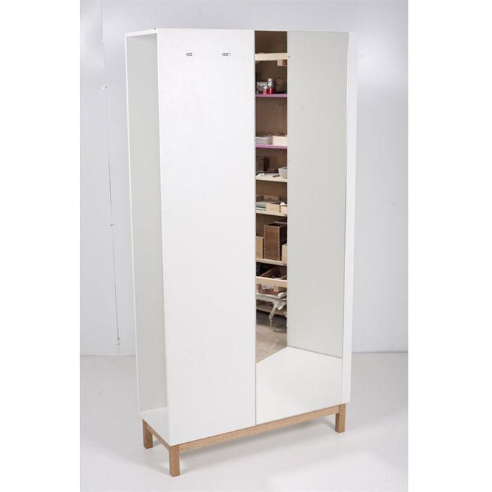 new est armoire d 39 entr e ch ne blanc achat vente armoire de chambre new est armoire d. Black Bedroom Furniture Sets. Home Design Ideas