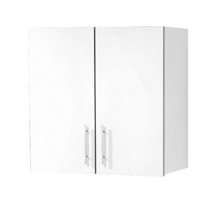 Meuble haut cuisine annette 2 portes 60 cm achat vente for Meuble haut 110 cm