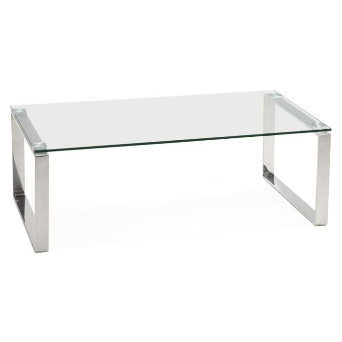 Table basse design de salon 39 nebraska 39 en verre achat for Table basse de salon en verre design