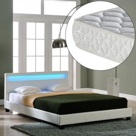 lit white pearl 140x200 cm avec matelas achat vente lit complet lit white pearl 140x200 cm. Black Bedroom Furniture Sets. Home Design Ideas